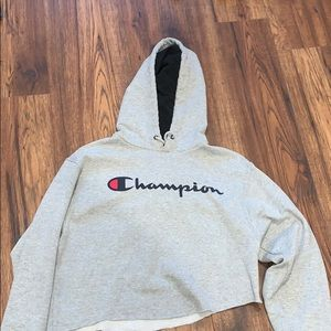 cropped champion hoodie!
